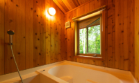 Shirakaba Bathroom with Wooden Wall | Annupuri, Niseko