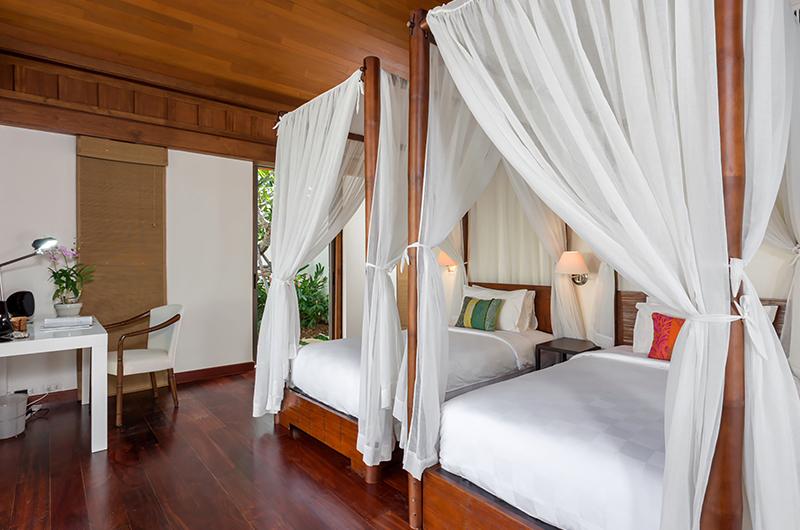 Villa Sundara Jivana Twin Bedroom with Four Poster Bed | Natai, Phang Nga