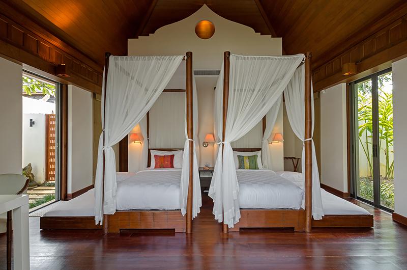 Villa Sundara Jivana Bedroom with Trundle Beds | Natai, Phang Nga