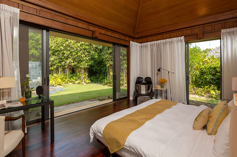 Villa Sundara Jivana Bedroom with Garden Fountain View   Natai, Phang Nga