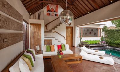 Villa Ku Tama Open Plan Living Room   Seminyak, Bali