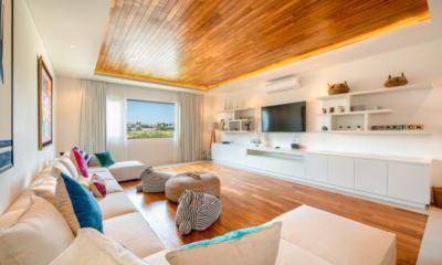 Villa Charick Living Room with Wooden Deck | Canggu, Bali
