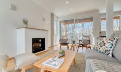 Konaya Living Room with Fire Place | Hirafu, Niseko